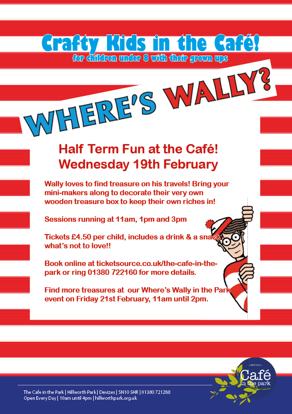 Crafty Kids in the Cafe Wheres Wally