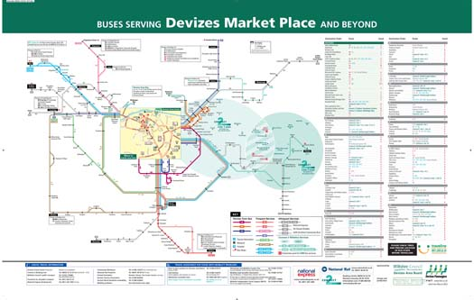 Devizes Bus Spider Map