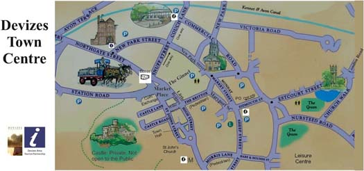 Devizes Tourist Map